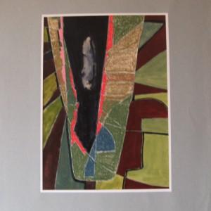 L'INCONNU ; pastel gras et aquarelle ; 30x42cm