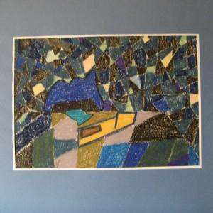 La FORCE EMIETTEE ; pastel gras ; 30x42cm