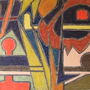 HISTOIRE de SYMBIOSES ; pastel gras ; 50x65cm