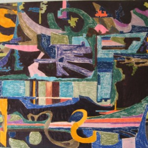 DIVERSITES COMPATIBLES ; pastel gras et gouache vernis ; 50x55cm