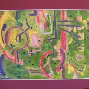 LE GAI PRINTEMPS ; pastel gras et aquarelle ; 29x41cm