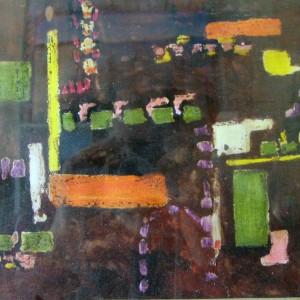 LES EMAUX ; pastel gras et gouache vernis ; 22x30cm