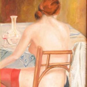 MELANCOLIE d'AMOUR ; huile ; 50x61cm