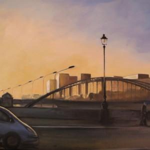 PARIS S'EVEILLE ; huile ; 54x73cm