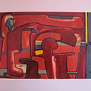 RACINES HUMAINES ; pastel gras et aquarelle vernis ; 30x43cm