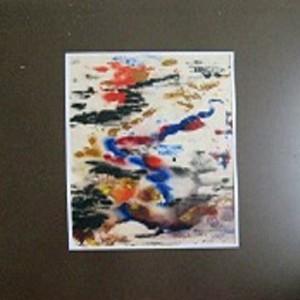 TACHISME JAPONISANT ; aquarelle ; 15x25cm