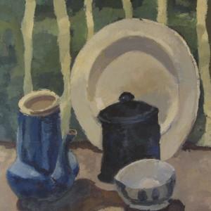 L'ASSIETTE ; huile ; 50x61cm