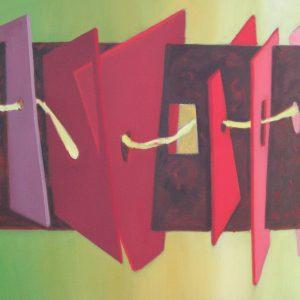 LE FIL  de la PENSEE ; huile ; 54x73cm