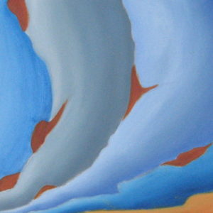 RESILIENCE OU RUPTURE ; huile ; 30x80cm