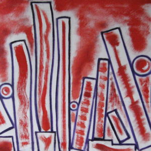 EQUILIBRES PRECAIRES ; huile ; 40x80cm