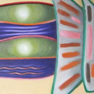 DIVERSITES EMERGENTES ; huile ; 30x100cm