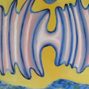 MEANDRES et PLASTICITE de l'ESPRIT ; huile ; 30x80cm
