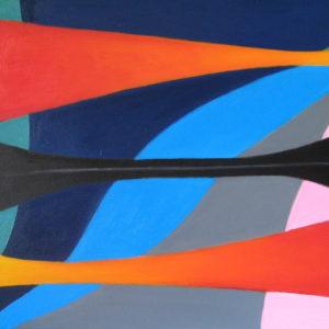 YIN et YANG ou PASSIVITE et ACTIVITE ; huile ; 40x80cm
